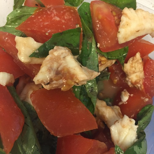 ... tomato peas smoked mozzarella caprese salad smoked mozzarella caprese